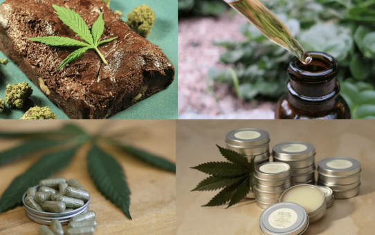 Different ways to consume cannabis.
